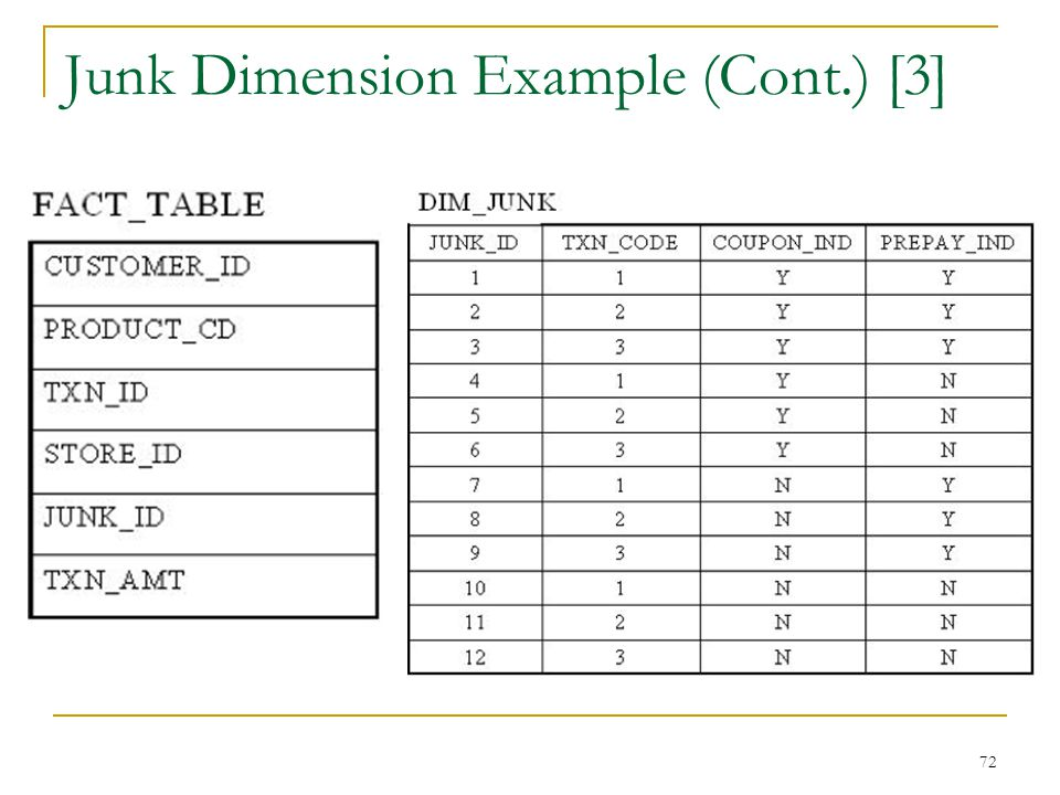 Junk Dimension Example (Cont.) [3]